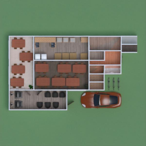floorplans salon cuisine café salle à manger 3d