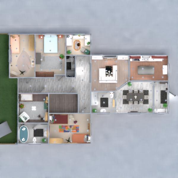 floorplans łazienka pokój dzienny kuchnia pokój diecięcy jadalnia 3d