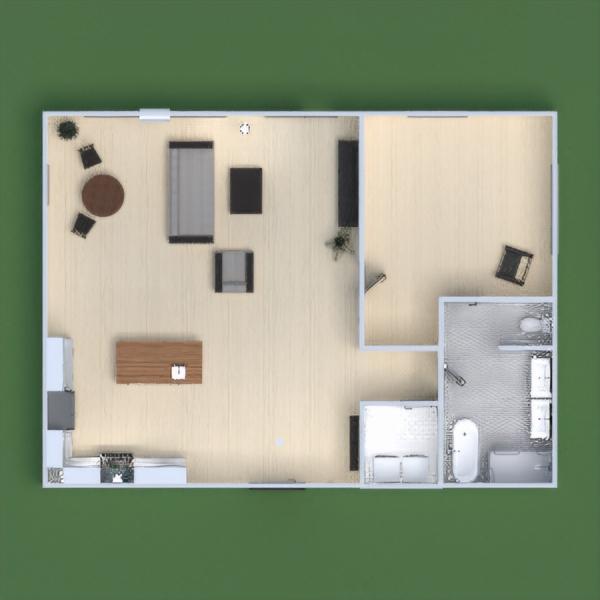 floorplans apartamento cuarto de baño dormitorio salón 3d