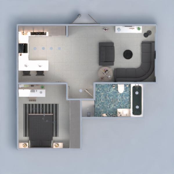 планировки квартира мебель ванная спальня кухня 3d