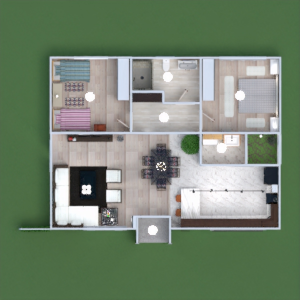 floorplans haus landschaft 3d