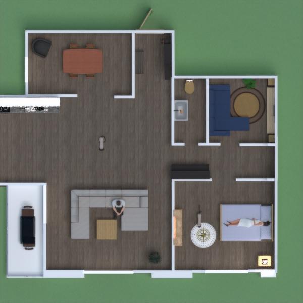 floorplans casa muebles dormitorio exterior arquitectura 3d