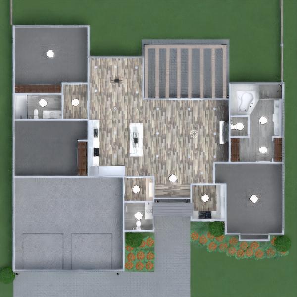 floorplans namas miegamasis svetainė valgomasis аrchitektūra 3d