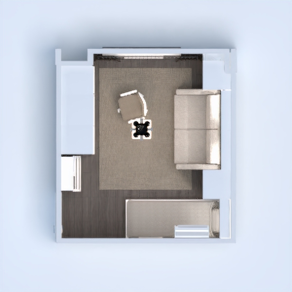 floorplans apartamento mobílias dormitório quarto despensa 3d