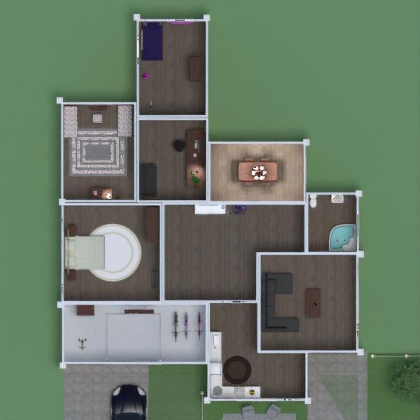 floorplans casa cuarto de baño dormitorio salón garaje cocina exterior habitación infantil despacho comedor arquitectura 3d