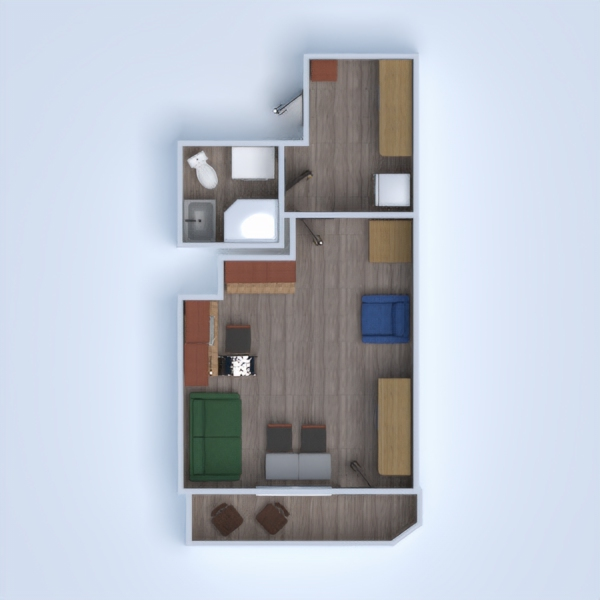 floorplans apartamento bricolaje estudio 3d