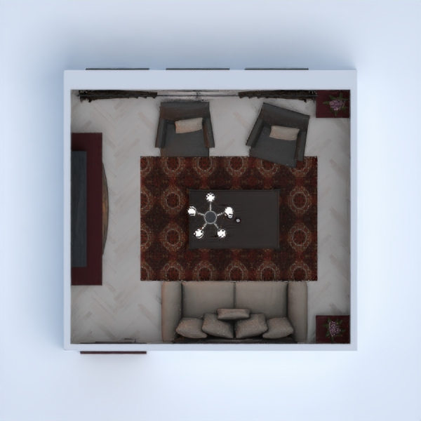 floorplans meble pokój dzienny 3d