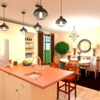 планировки дом кухня столовая 3d