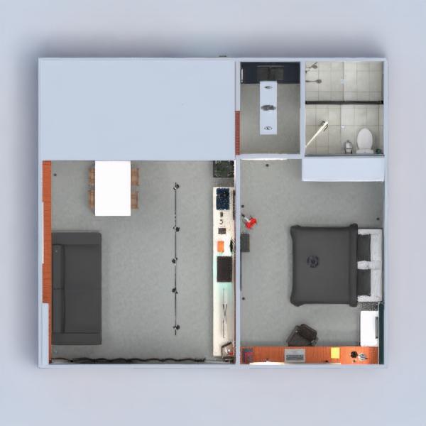floorplans apartamento muebles decoración salón cocina despacho iluminación hogar comedor arquitectura descansillo 3d