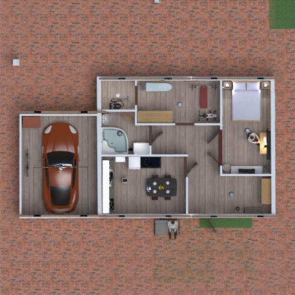 floorplans house furniture garage kitchen 3d