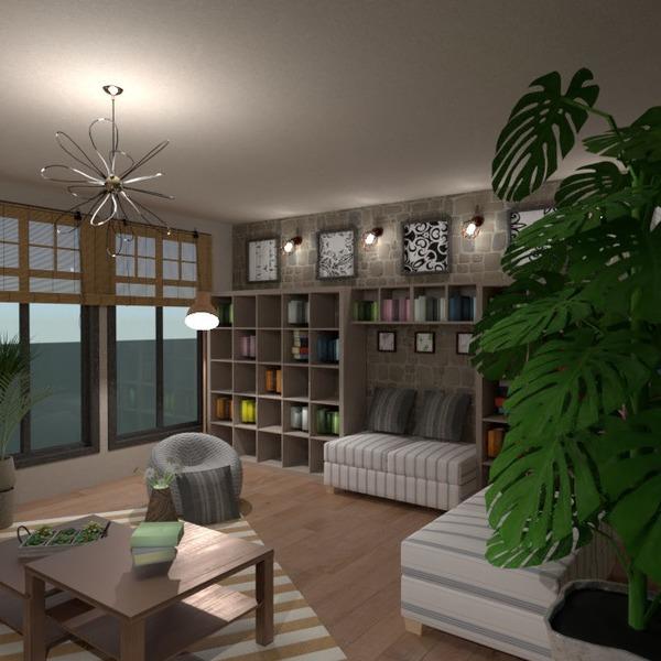 floorplans baldai dekoras svetainė apšvietimas 3d