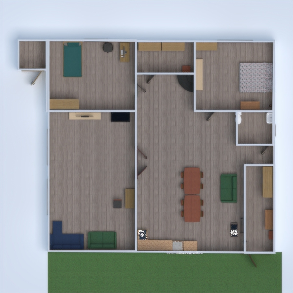 floorplans apartment house terrace furniture 3d