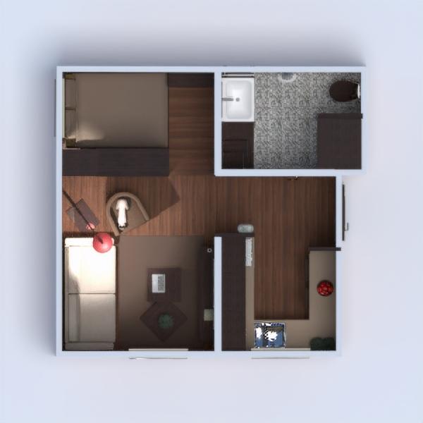 floorplans apartment furniture decor bathroom bedroom living room kitchen 3d