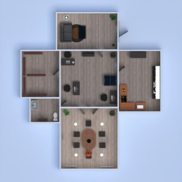 floorplans butas dekoras kavinė sandėliukas studija 3d