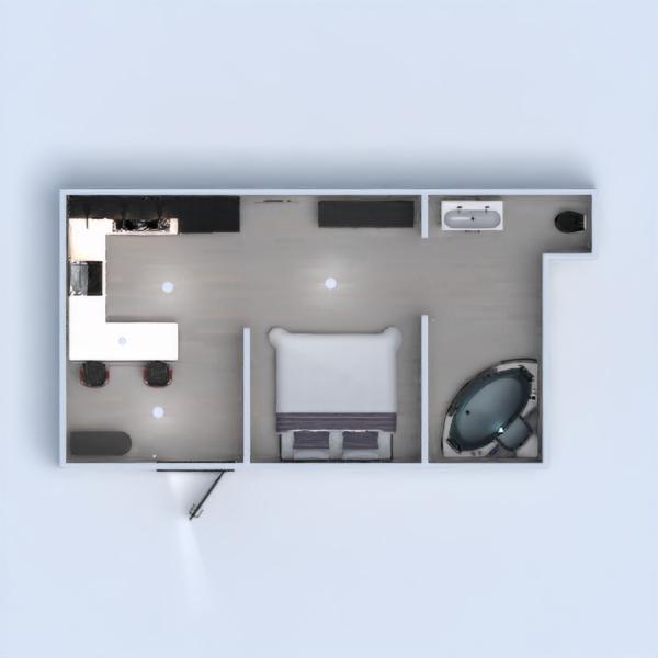 floorplans bagno camera da letto saggiorno monolocale 3d