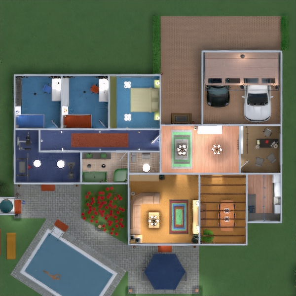 floorplans appartamento casa veranda arredamento decorazioni bagno camera da letto saggiorno garage cucina esterno cameretta studio illuminazione paesaggio sala pranzo architettura vano scale 3d