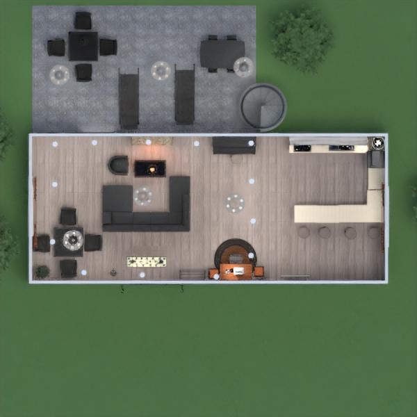 floorplans casa terraza cuarto de baño exterior reforma 3d