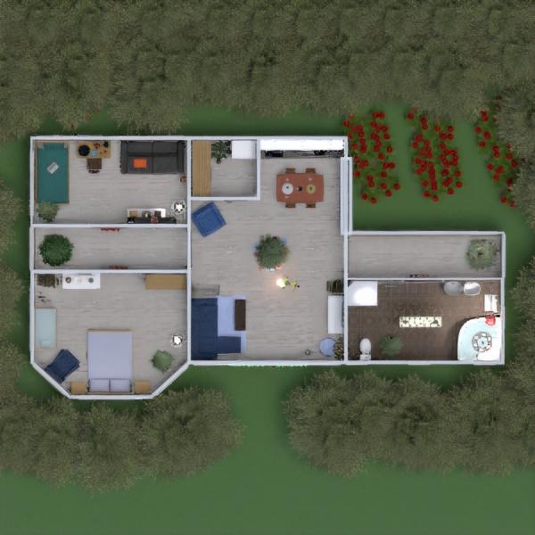 планировки дом ванная спальня гостиная детская 3d