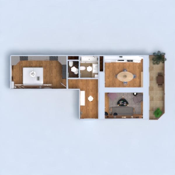 floorplans appartamento arredamento bagno camera da letto cucina illuminazione architettura vano scale 3d