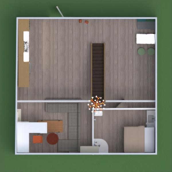 floorplans butas vonia miegamasis virtuvė valgomasis 3d