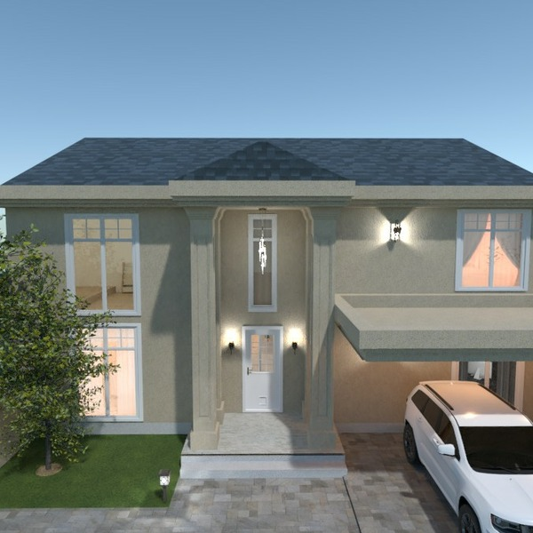 floorplans dom meble pokój dzienny kuchnia na zewnątrz 3d