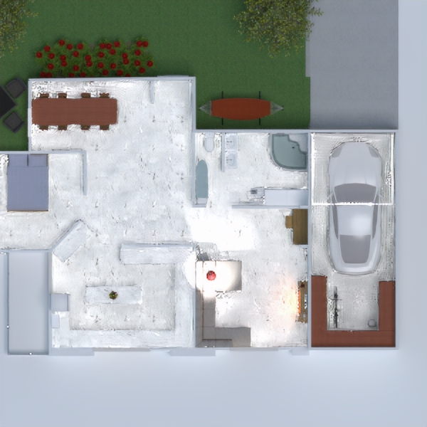 floorplans dom meble sypialnia na zewnątrz jadalnia 3d