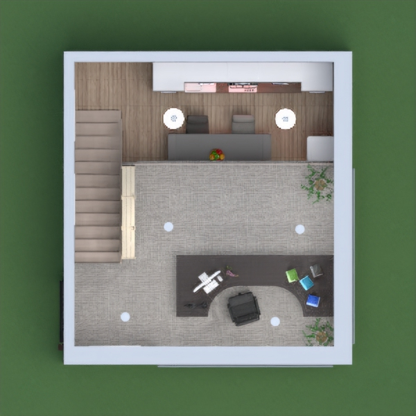 floorplans dom pokój dzienny kuchnia biuro jadalnia 3d