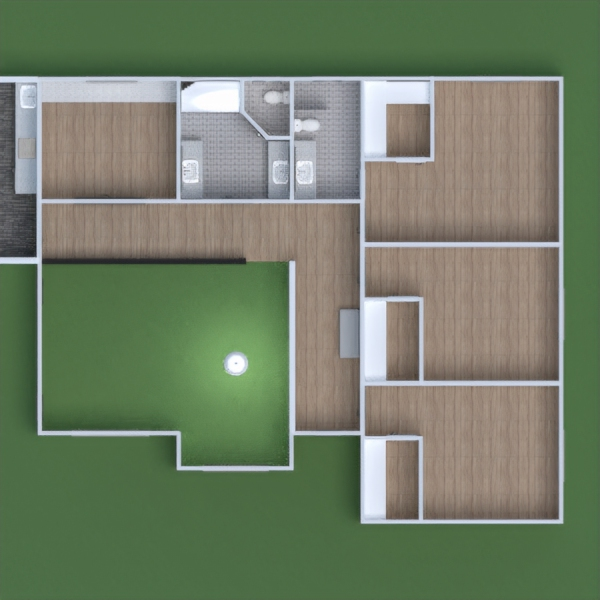 floorplans house terrace kitchen office dining room 3d