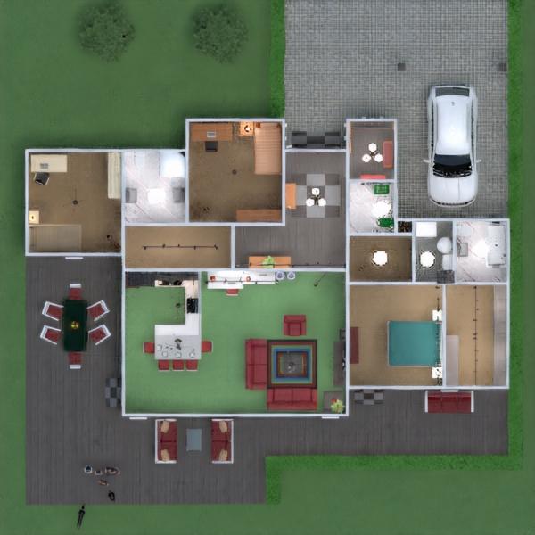 floorplans apartamento casa varanda inferior mobílias decoração casa de banho dormitório quarto garagem cozinha área externa quarto infantil iluminação sala de jantar arquitetura patamar 3d