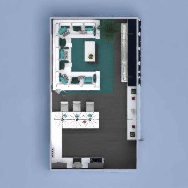 планировки гостиная кухня 3d