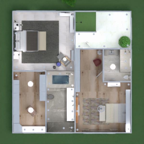 floorplans casa terraza muebles decoración cuarto de baño dormitorio salón garaje cocina exterior iluminación paisaje hogar cafetería comedor arquitectura trastero descansillo 3d