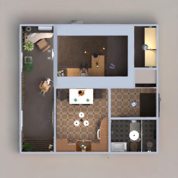 floorplans wohnung mobiliar dekor do-it-yourself badezimmer wohnzimmer küche büro beleuchtung renovierung haushalt esszimmer lagerraum, abstellraum eingang 3d
