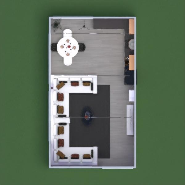 floorplans furniture living room kitchen lighting dining room 3d