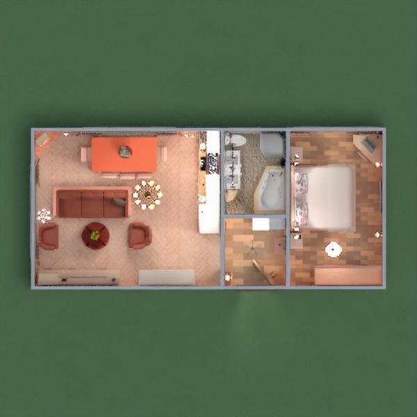 floorplans apartamento mobílias decoração faça você mesmo casa de banho dormitório quarto cozinha estúdio patamar 3d