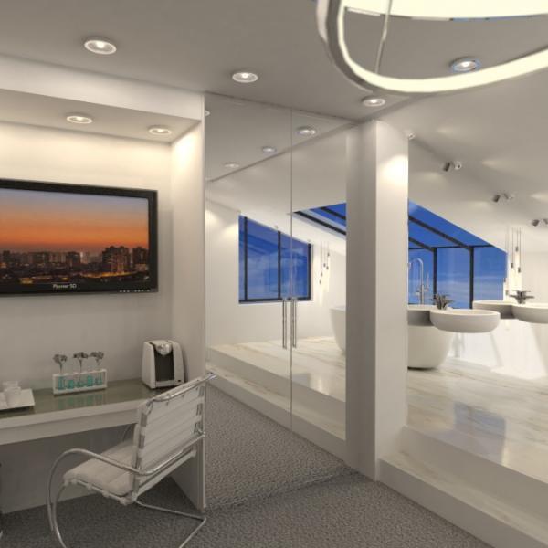 floorplans butas namas dekoras vonia miegamasis 3d