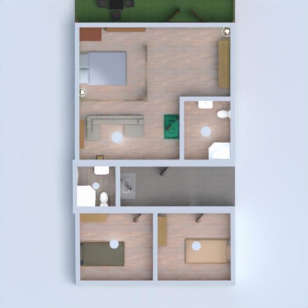 floorplans mieszkanie dom taras sypialnia architektura 3d