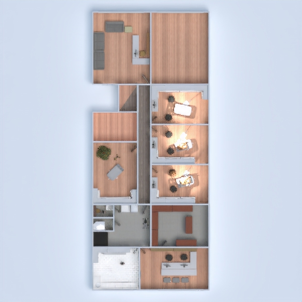 floorplans appartement maison terrasse 3d