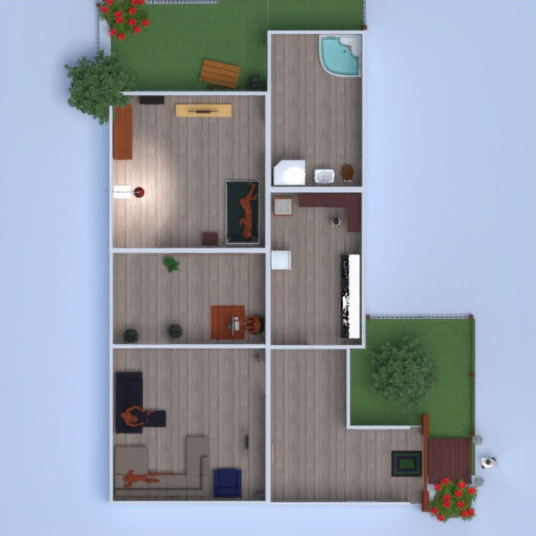 floorplans house furniture bathroom 3d