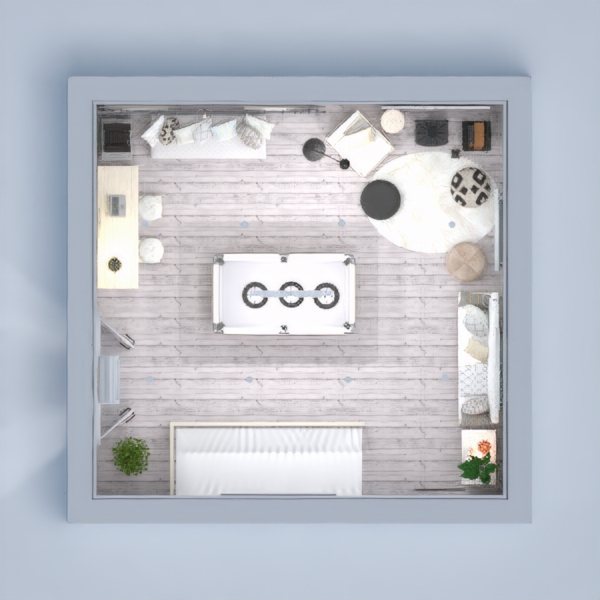 floorplans appartement maison meubles salon eclairage 3d