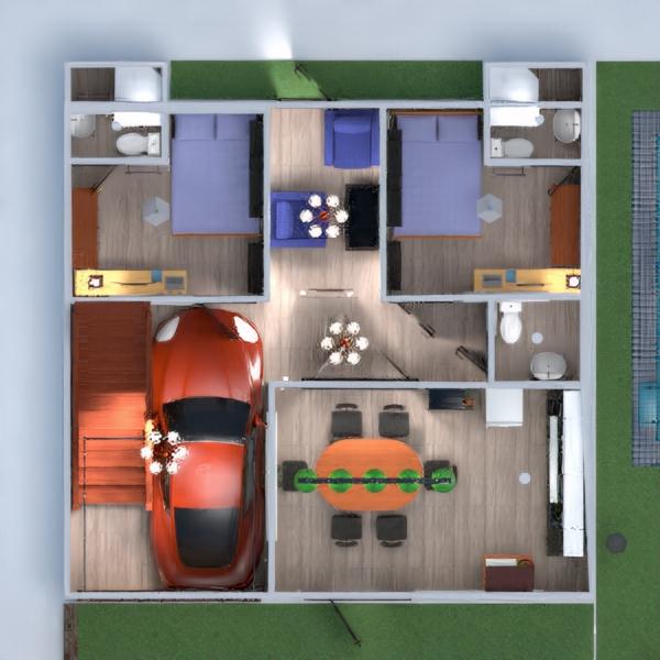 floorplans dom meble wystrój wnętrz łazienka sypialnia pokój dzienny garaż kuchnia na zewnątrz oświetlenie gospodarstwo domowe jadalnia architektura 3d