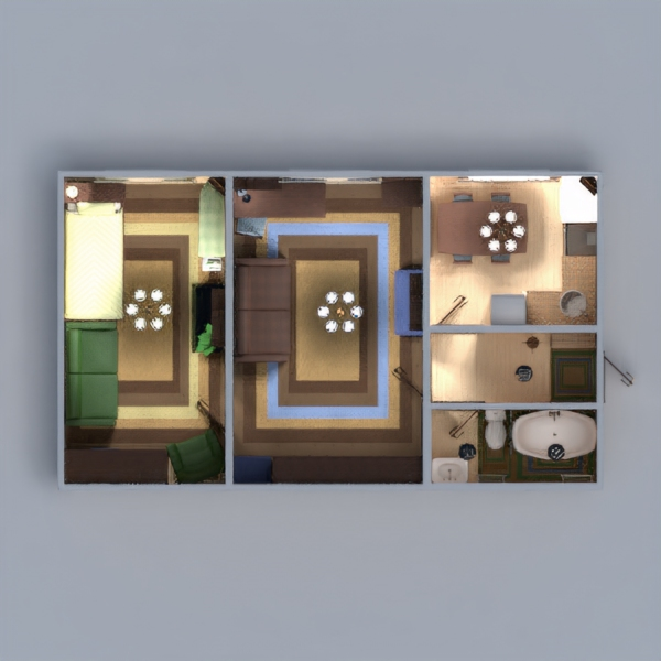 floorplans apartment furniture decor bathroom bedroom living room kitchen lighting household entryway 3d