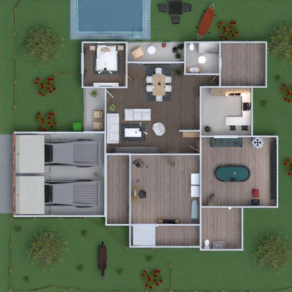 floorplans haus schlafzimmer garage küche haushalt 3d