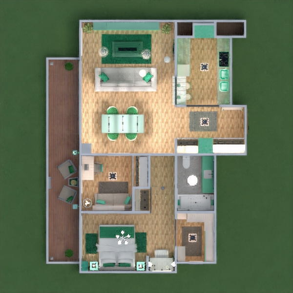 floorplans apartamento varanda inferior mobílias decoração faça você mesmo casa de banho dormitório quarto cozinha área externa escritório iluminação paisagismo utensílios domésticos sala de jantar arquitetura 3d