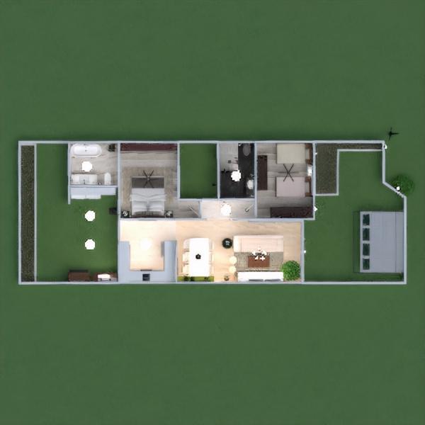 floorplans dom meble wystrój wnętrz sypialnia garaż kuchnia na zewnątrz oświetlenie krajobraz jadalnia architektura wejście 3d