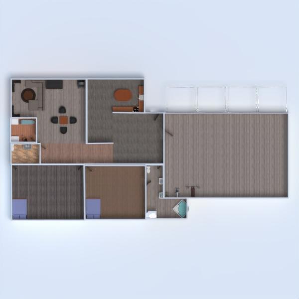 floorplans casa garaje exterior habitación infantil 3d