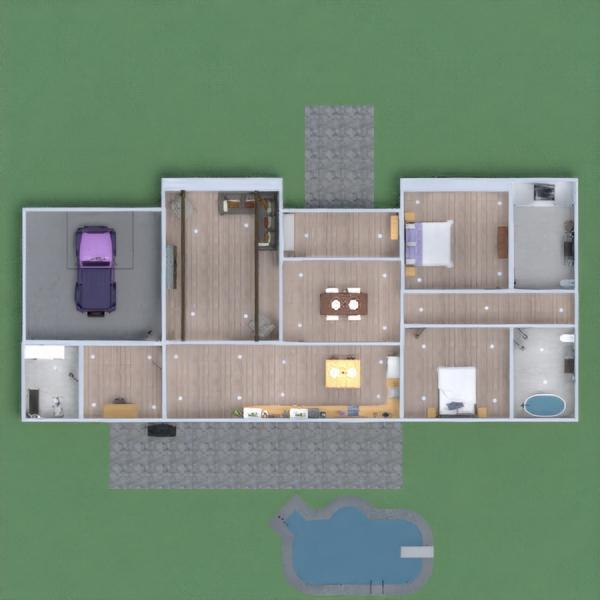 floorplans dom wystrój wnętrz sypialnia kuchnia gospodarstwo domowe 3d