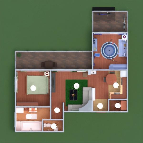 floorplans квартира терраса мебель декор ванная спальня гостиная кухня детская хранение 3d