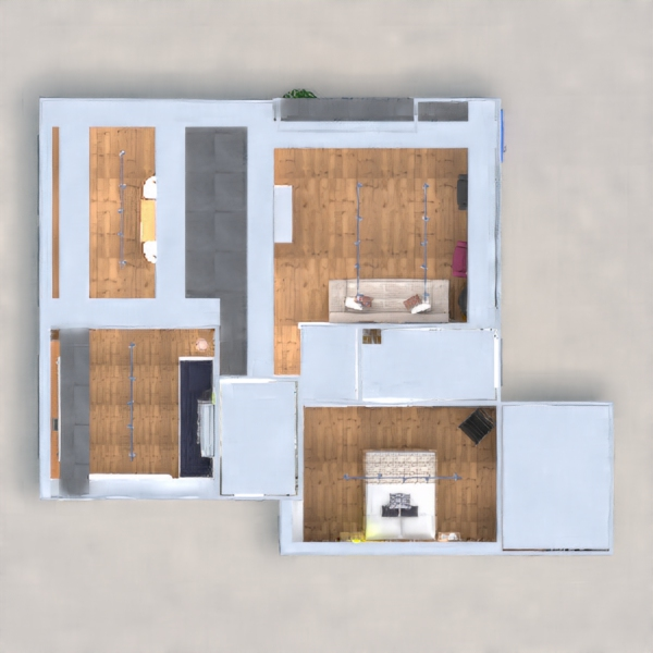 floorplans apartment furniture decor bedroom kitchen office lighting renovation architecture 3d