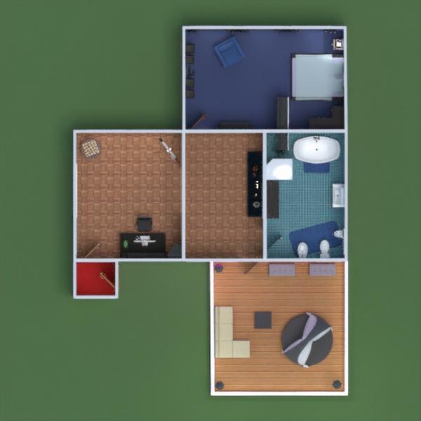 floorplans apartamento varanda inferior mobílias decoração faça você mesmo dormitório quarto escritório iluminação utensílios domésticos sala de jantar despensa estúdio 3d