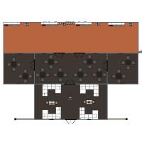 floorplans furniture kitchen cafe 3d